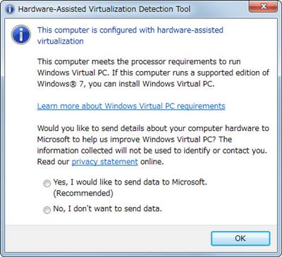 Microsoft Hardware-Assisted Virtualization Detection Tool(HAV Detection Tool